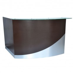 Wave Round Reception Desk (front)
